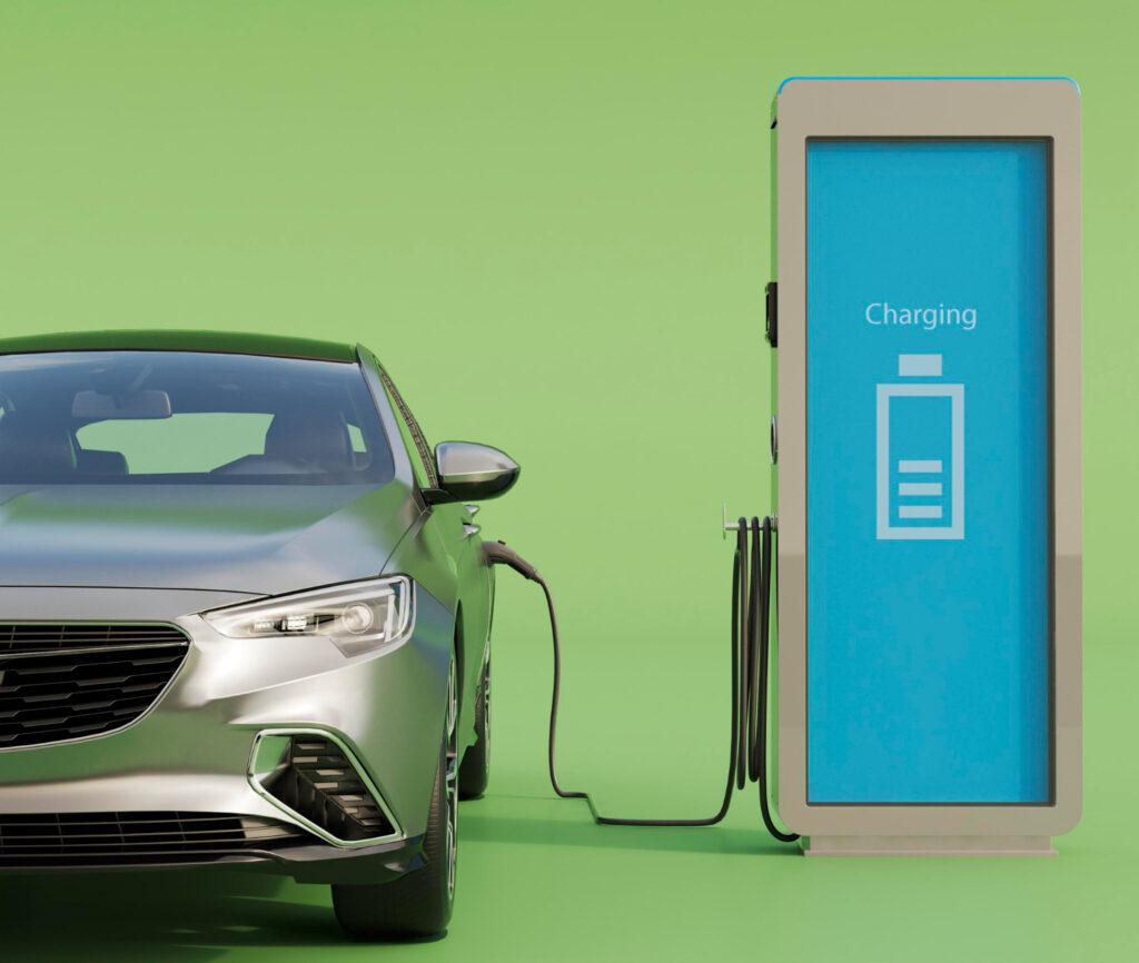 carros elétricos carregando